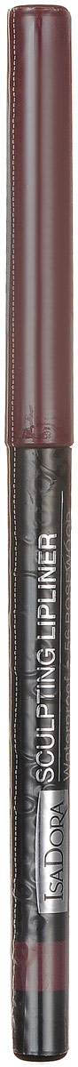Isadora карандаш для губ водостойкий Sculpting lipliner waterproof 56 3 гр80284338Cкульптурирует губы и придает им визуальный объем, предотвращает размазывание помады и делает макияж губ более стойким.