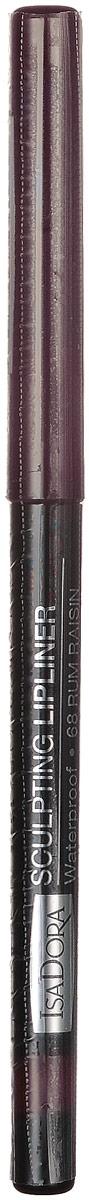 Isadora карандаш для губ водостойкий Sculpting lipliner waterproof 68 3 гр28032022Cкульптурирует губы и придает им визуальный объем, предотвращает размазывание помады и делает макияж губ более стойким.