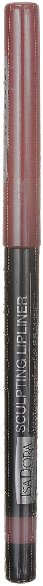 Isadora карандаш для губ водостойкий Sculpting lipliner waterproof 52 3 гр28032022Cкульптурирует губы и придает им визуальный объем, предотвращает размазывание помады и делает макияж губ более стойким.