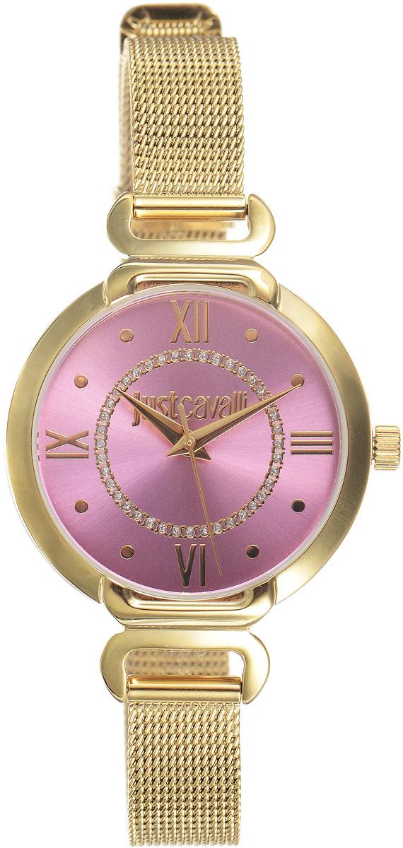 Наручные часы женские Just Cavalli Hook j, цвет: золотой. R7253526501BM8434-58AEСтильные женские часы Just Cavalli изготовлены из нержавеющей стали. Металлический ремешок оснащен классической застежкой-пряжкой. Точный кварцевый механизм имеет степень влагозащиты равную 3 Bar и дополнен часовой и минутной стрелками. Для того чтобы защитить циферблат от повреждений в часах используется высокопрочное минеральное стекло. Изделие упаковано в фирменную коробку. Часы Just Cavalli отличаются современным уникальным дизайном, идеальными пропорциями в сочетании с прекрасными материалами и техническими характеристиками.