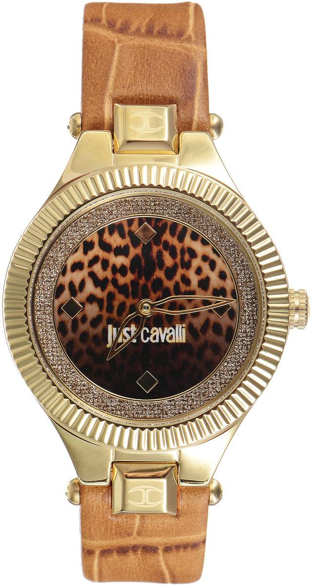 Наручные часы женские Just Cavalli Just Indie, цвет: коричневый, золотой. R7251215502BM8434-58AEСтильные женские часы Just Cavalli изготовлены из нержавеющей стали. Кожаный ремешок оснащен классической застежкой-пряжкой. Точный кварцевый механизм имеет степень влагозащиты равную 3 Bar и дополнен часовой и минутной стрелками. Циферблат украшен блестками. Для того чтобы защитить циферблат от повреждений в часах используется высокопрочное минеральное стекло. Изделие упаковано в фирменную коробку. Часы Just Cavalli отличаются современным уникальным дизайном, идеальными пропорциями в сочетании с прекрасными материалами и техническими характеристиками.