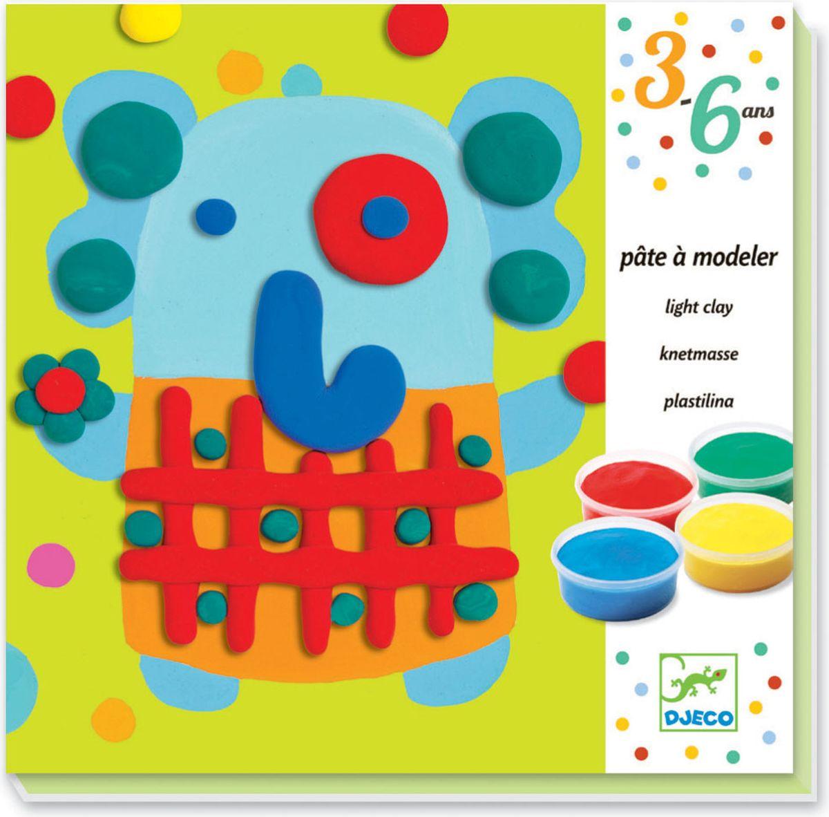 Набор для творчества Djeco Крокро для лепки из пластилина для самых маленьких.С помощью данного набора малыш сможет познакомиться с техникой работы с пластилином и создать яркие пластилиновые картины с изображением крокодила, слоника, зайчика и жирафа. Для этого не нужно много уметь, картины составляются из простейших фигур: кружочков и палочек. Подробная инструкция поможет сделать все правильно.Набор поможет развить у ребенка усидчивость, мелкую моторику и творческое мышление.