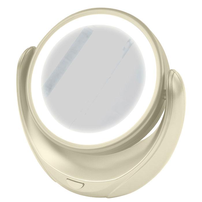 Marta MT-2653, Milky Pearl зеркало с подсветкой28032022Marta MT-2653 - стильное и элегантное настольное зеркало с подсветкой и пятикратным увеличением отражения одной из поверхностей. Идеально подходит для тщательного нанесения макияжа и ухода за кожей лица. Зеркало позволяет изменять угол наклона для достижения максимального удобства, а также имеет две зеркальные стороны, одна из которых обладает свойством пятикратного увеличения отражения, что особенно важно при кропотливой работе с участками лица, требующими наиболее тщательного внимания. Круговая подсветка по контуру зеркала Marta MT-2653 нормализует и выравнивает освещение, позволяя детально разглядеть все нюансы отражения. Для полноценной работы зеркала используются распространенные элементы питания типа АА на 1,5 В, одного комплекта которых хватит на длительный срок эксплуатации. Простота использования и очистки, функциональность, сопровождающаяся особым комфортом, делают настольное зеркало незаменимым аксессуаром для ухода за лицом и в домашних условиях, и в путешествии.
