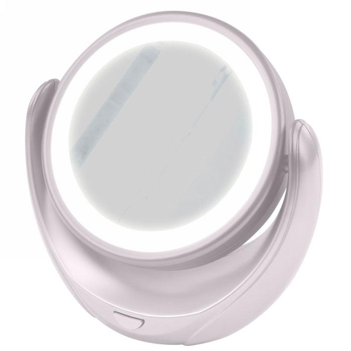 Marta MT-2653, White Pearl зеркало с подсветкой28032022Marta MT-2653 - стильное и элегантное настольное зеркало с подсветкой и пятикратным увеличением отражения одной из поверхностей. Идеально подходит для тщательного нанесения макияжа и ухода за кожей лица. Зеркало позволяет изменять угол наклона для достижения максимального удобства, а также имеет две зеркальные стороны, одна из которых обладает свойством пятикратного увеличения отражения, что особенно важно при кропотливой работе с участками лица, требующими наиболее тщательного внимания. Круговая подсветка по контуру зеркала Marta MT-2653 нормализует и выравнивает освещение, позволяя детально разглядеть все нюансы отражения. Для полноценной работы зеркала используются распространенные элементы питания типа АА на 1,5 В, одного комплекта которых хватит на длительный срок эксплуатации. Простота использования и очистки, функциональность, сопровождающаяся особым комфортом, делают настольное зеркало незаменимым аксессуаром для ухода за лицом и в домашних условиях, и в путешествии.