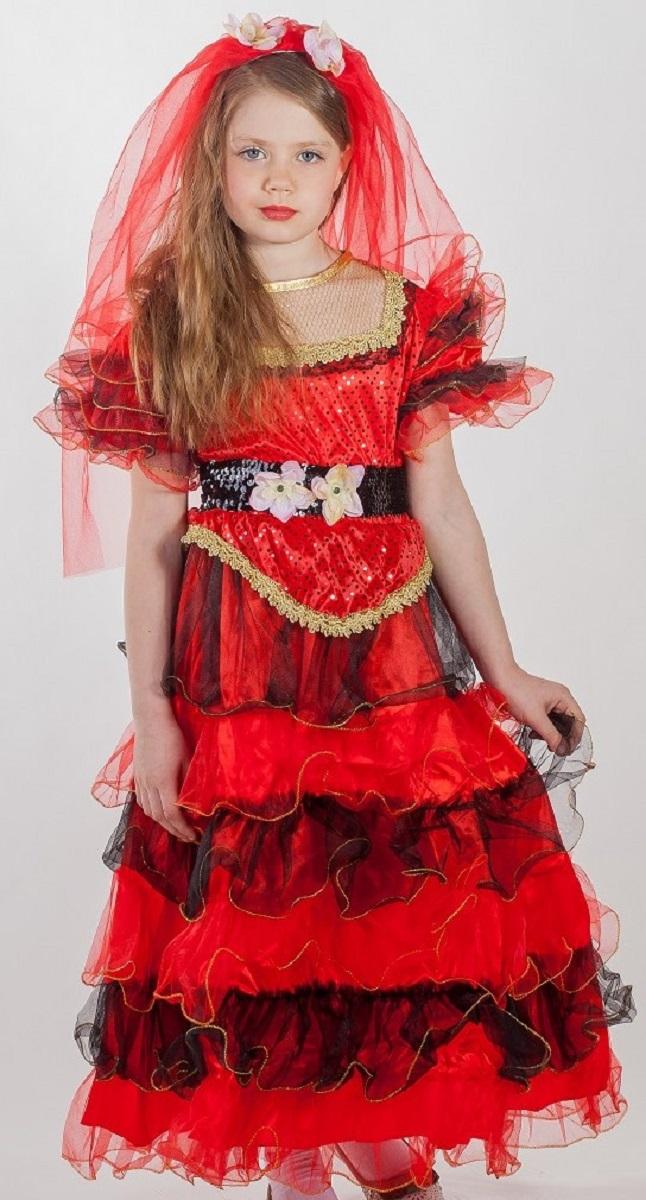 Карнавалия Карнавальный костюм для девочки Испанка размер 110 - Карнавальные костюмы и аксессуары