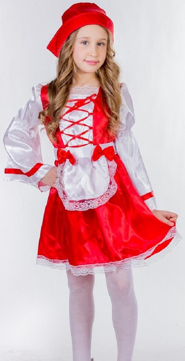 Карнавалия Карнавальный костюм для девочки Красная шапочка размер 110
