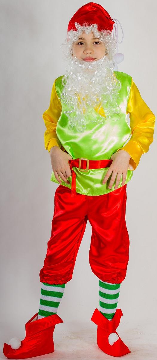 Карнавалия Карнавальный костюм для мальчика Гном цвет размер 110