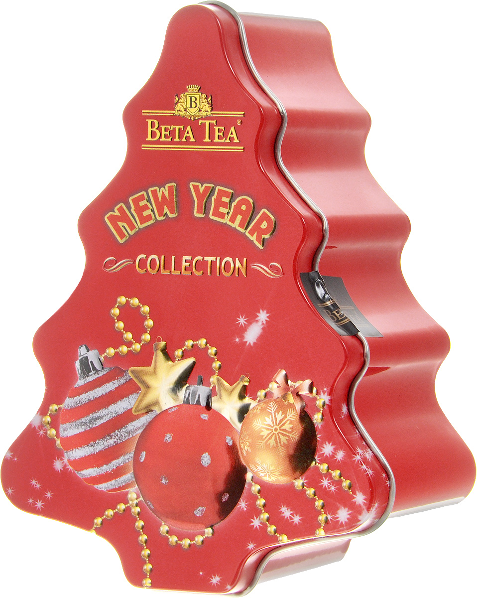 Beta Tea Елка красная черный листовой чай, 50 г80114-00Превосходный черный цейлонский чай Beta Tea в новогодней подарочной упаковке в форме елки красного цвета. Отлично подойдет в качестве подарка на новогодние праздники.