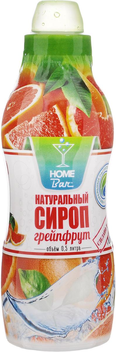 Home Bar Грейпфрут натуральный сироп, 0,5 л0120710Сироп Home Bar произведен из натурального сырья в России в Кабардино-Балкарии. Сироп Грейпфрут имеет освежающий и кисло-сладкий вкус (плод субтропического цитрусового дерева), ценный диетический и целебный продукт. В нем содержатся провитамин А, витамины С, В1, Д, антиоксиданты, которые способствуют сохранению молодости и долголетия. По своим полезным свойствам сироп грейпфрута близок к лимонному. Напитки, приготовленные из сиропа Грейпфрут, улучшают аппетит и пищеварение.