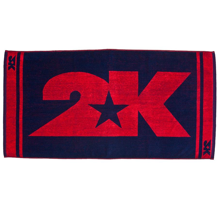 Полотенце 2K Sport  Barri , цвет: темно-синий, красный, 60 х 120 см - Полезные аксессуары
