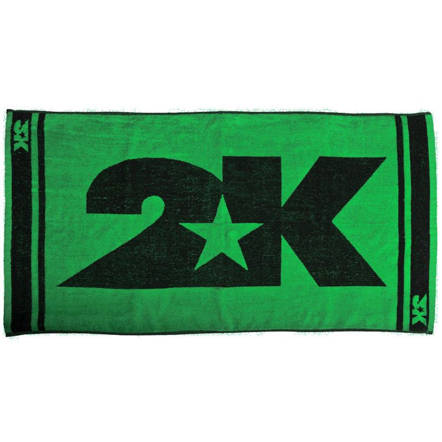 Полотенце 2K Sport  Lucca , цвет: зеленый, черный, 60 х 120 см - Полезные аксессуары
