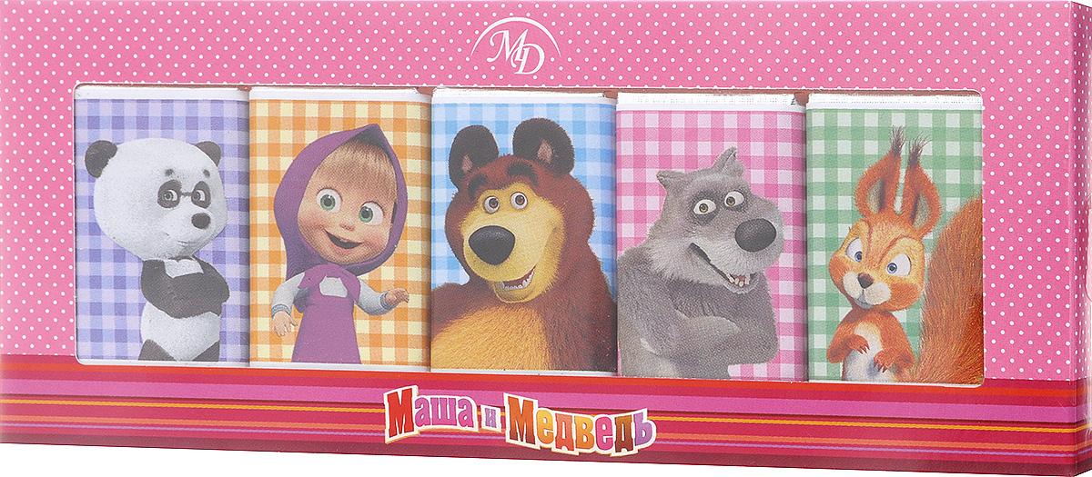 Монетный двор Маша и Медведь набор молочного шоколада, 60 г (розовая упаковка)0120710Набор молочного шоколада Маша и Медведь станет великолепным подарком, ведь он так привлекательно смотрится и, самое главное, обладает таким насыщенным, ярко выраженным вкусом сортового шоколада.