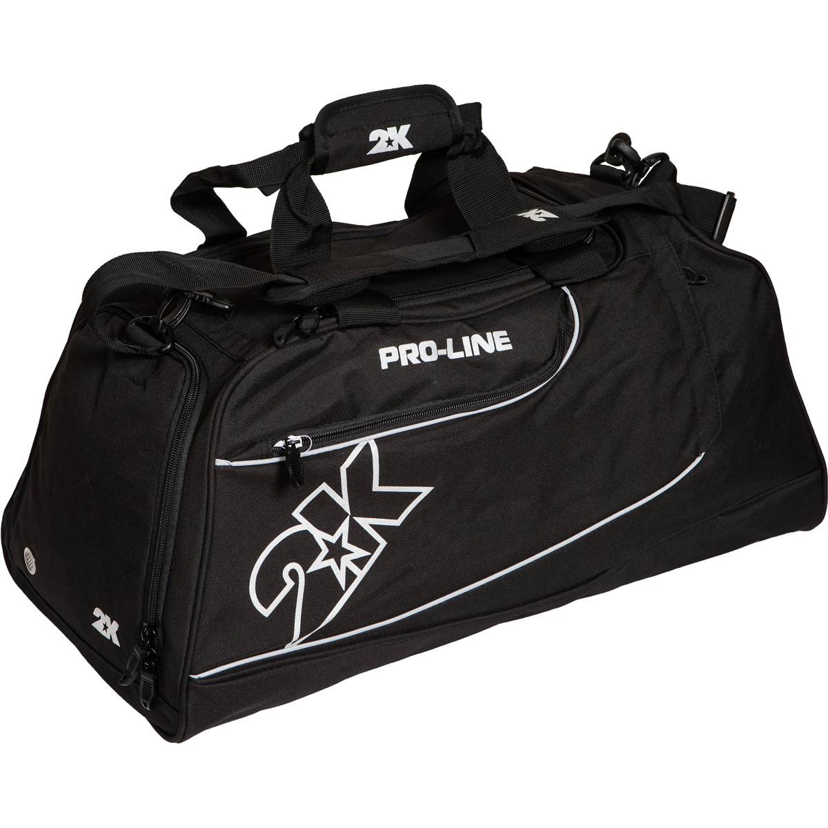 Сумка спортивная 2K Sport Manado, цвет: черный. 128121УТ-000067041Можно переносить на руке и на плече. Размер: 60х30х33 см. (ДхШхВ). Отстегивающийся ремень.