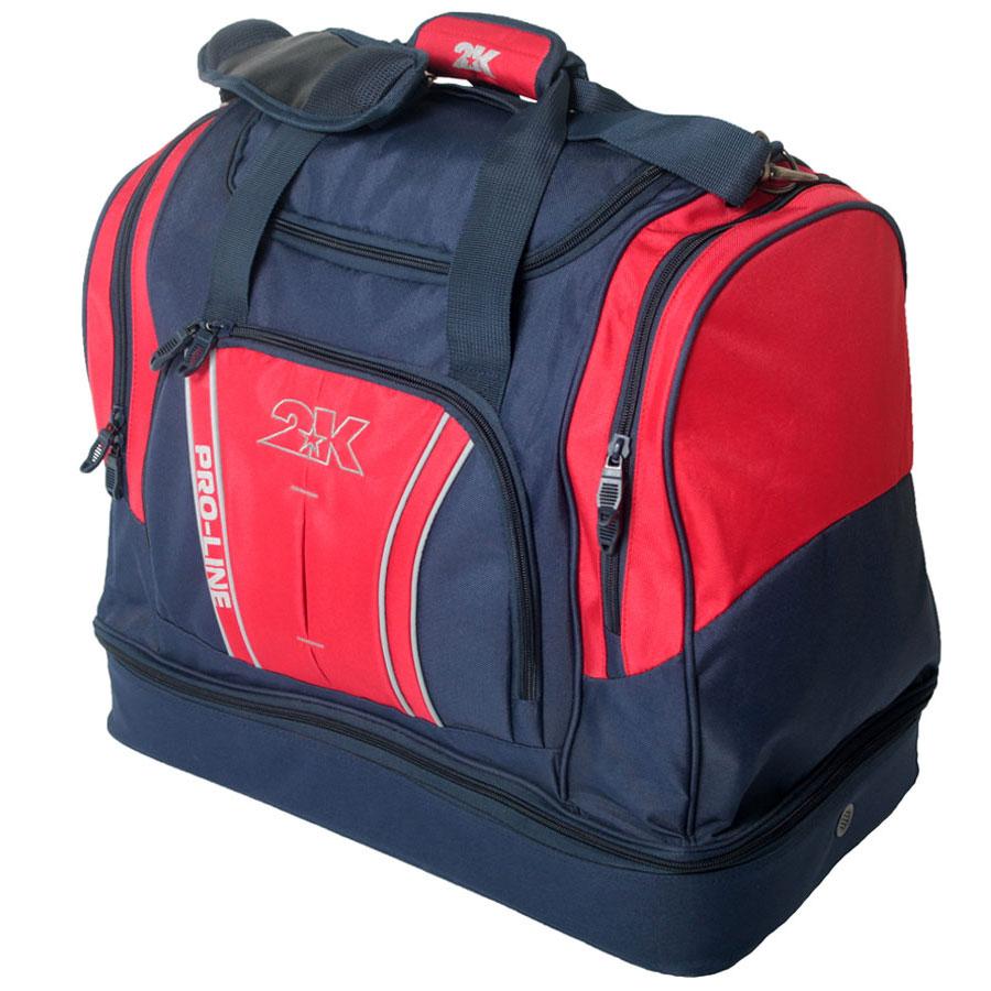 Сумка спортивная 2K Sport Tampa, цвет: темно-синий, красный. 12812410931-1Спортивная сумка с двойным дном для обуви 2K Sport Tampa. Можно переносить в руке и на плече. Размер: 50х30х43 см. (ДхШхВ). Отстегивающийся ремень.