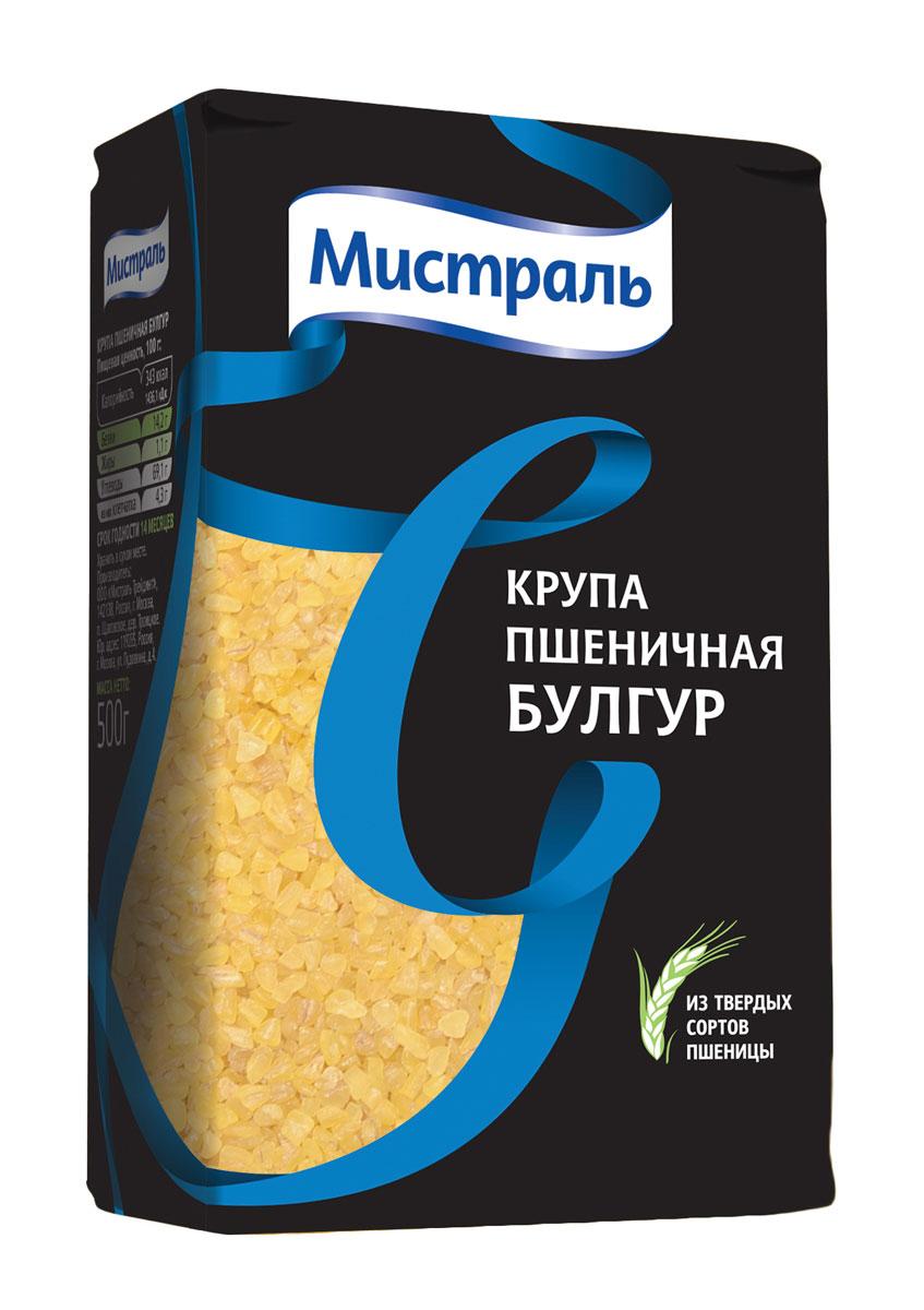 Мистраль Крупа пшеничная Булгур, 500 г0120710Булгур - это крупа из твердой пшеницы. Пшеничные зерна замачивают, пропаривают и высушивают (традиционно - на солнце), затем их очищают от оболочки и дробят. В результате получается крупа, которую просеивают и делят в соответствии с размером частиц на мелкий, средний и крупный булгур.Булгур крупного размера, его не требуется промывать и замачивать перед приготовлением. Такой сорт булгура наиболее популярный, потому что из него можно приготовить как плов, салат, гарнир, суп, так и самостоятельное блюдо.