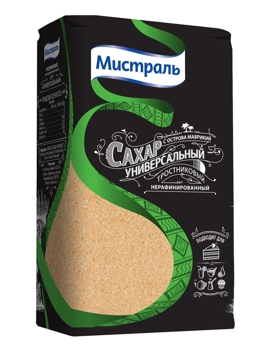Мистраль Сахар Универсальный, 1 кг5750Нерафинированный сахар получают путем выпаривания из свежевыжатого сока сахарного тростника, насыщенного патокой. Богатая полезными веществами тростниковая патока придает сахару золотистый цвет и карамельный аромат.Идеально подходит для выпечки.