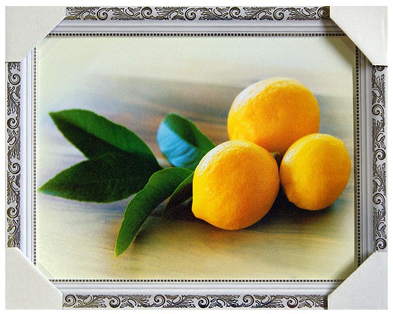Картина в раме Proffi Home Три лимона, 30 х 40 смTL-MM1037Картина Proffi Home поможет украсить интерьер. Картина оформлена в красивую деревянную рамку белого цвета с золотым декором. Фотопечать на бумажном постере с тиснением.Металлические петли, винты для подвешивания картины в комплекте.Размер картины: 30 х 40 см.