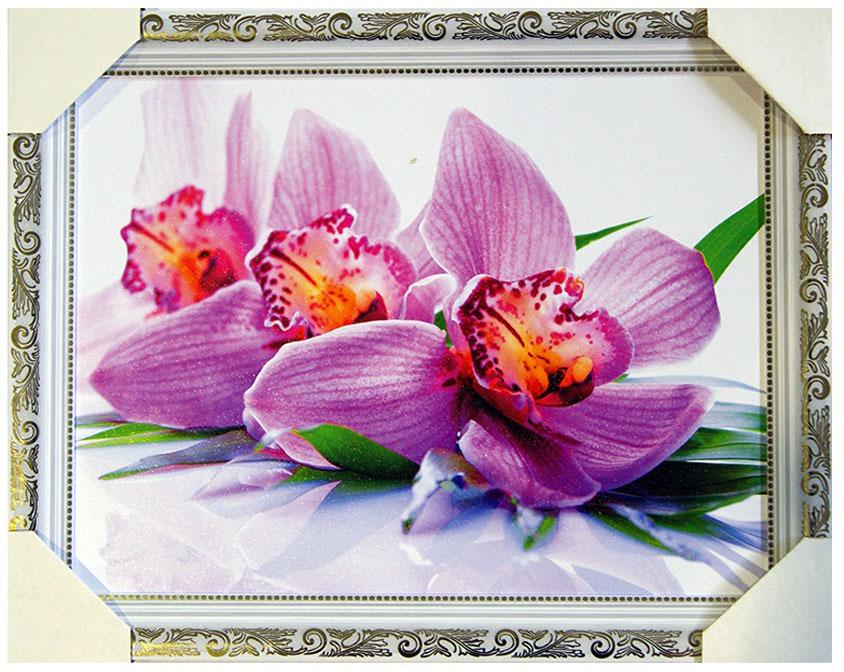 Картина в раме Proffi Home Розовая орхидея, 30 х 40 смXXL2-020Картина Proffi Home поможет украсить интерьер. Картина оформлена в красивую деревянную рамку белого цвета с золотым декором. Фотопечать на бумажном постере с тиснением.Металлические петли, винты для подвешивания картины в комплекте.Размер картины: 30 х 40 см.