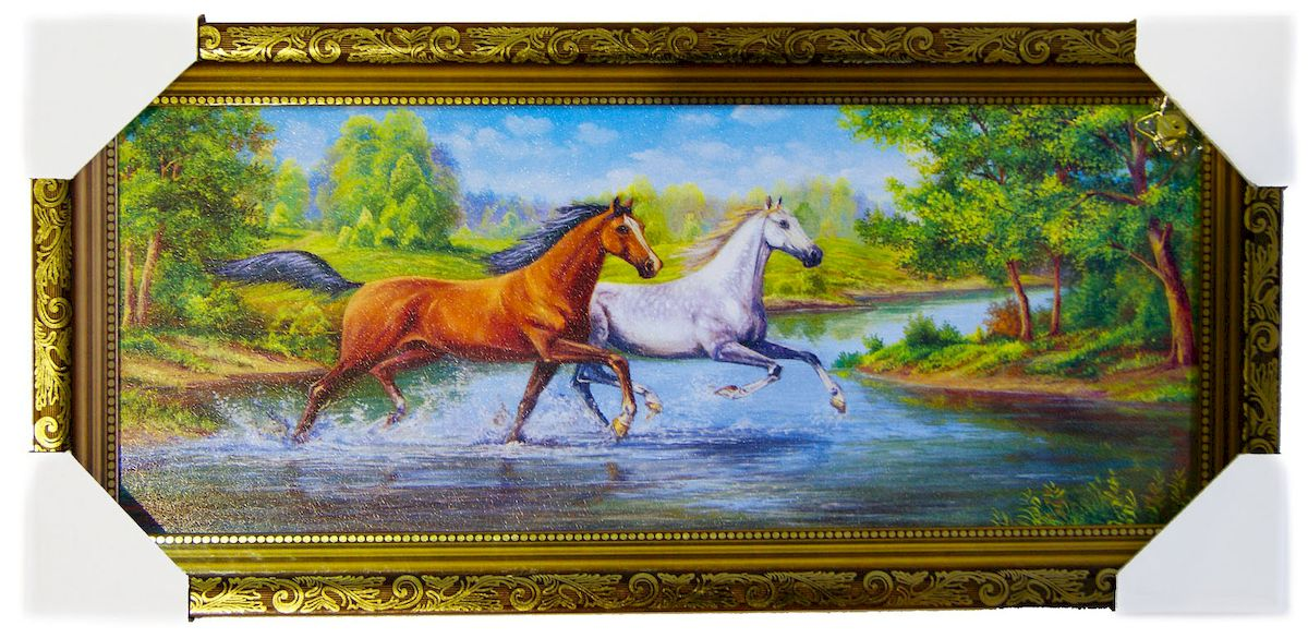 Картина в раме Proffi Home Лошади, 20 х 50 см картины в квартиру картина etude 2 102х130 см