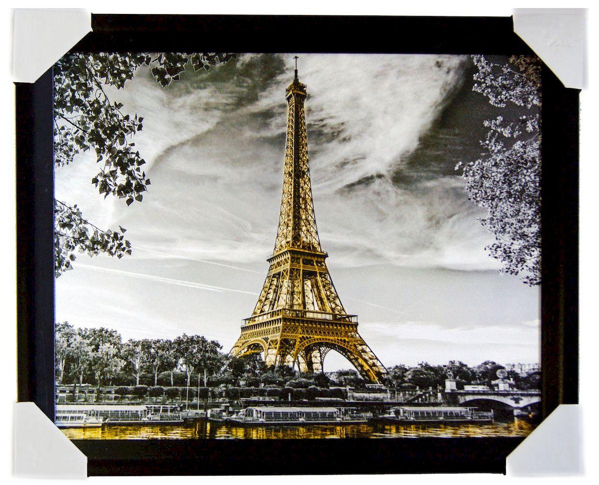 Картина в раме Proffi Home Эйфелева башня, 40 х 50 см12723Картина Proffi Home поможет украсить интерьер. Картина оформлена в красивую деревянную рамку черного цвета. Фотопечать на бумажном постере с тиснением.Металлические петли, винты для подвешивания картины в комплекте.Размер картины: 40 х 50 см.