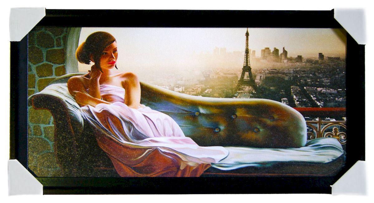 Картина в раме Proffi Home Вечер в Париже, 33 х 70 смES-412Картина Proffi Home поможет украсить интерьер. Картина оформлена в красивую деревянную рамку черного цвета. Фотопечать на бумажном постере с тиснением.Металлические петли, винты для подвешивания картины в комплекте.Размер картины: 33 х 70 см.