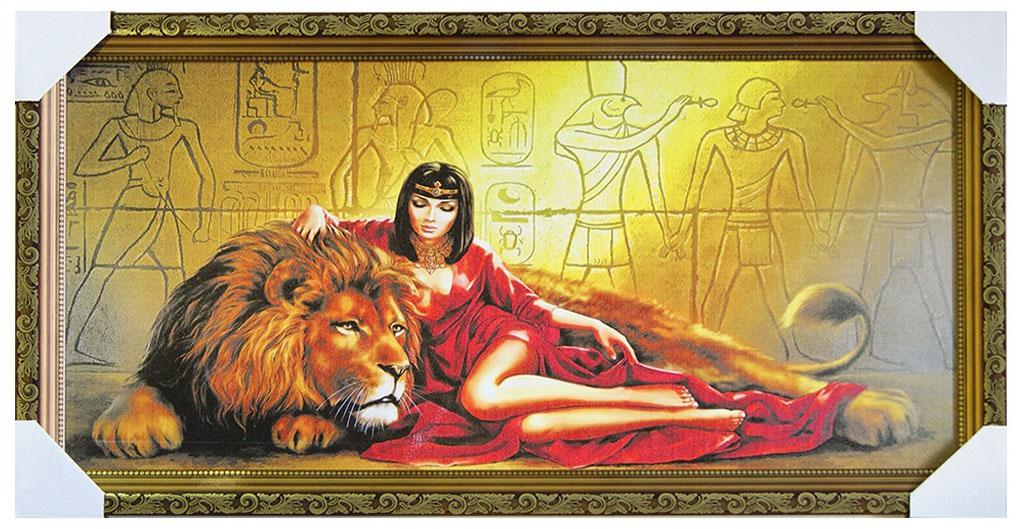 Картина в раме Proffi Home Египетский сюжет, 33 х 70 см12723Картина Proffi Home поможет украсить интерьер. Картина оформлена в красивую деревянную рамку коричневого цвета с золотым декором. Фотопечать на бумажном постере с тиснением.Металлические петли, винты для подвешивания картины в комплекте.Размер картины: 33 х 70 см.