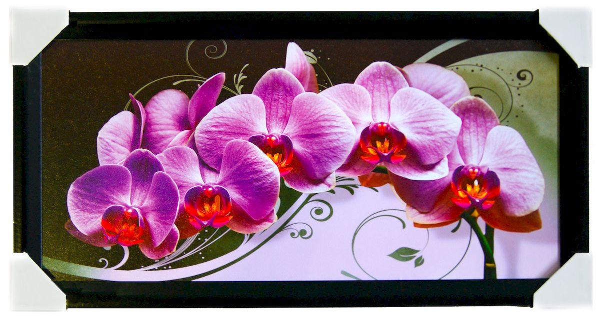 Картина в раме Proffi Home Восточная композиция с орхидеей, 33 х 70 смRG-D31SКартина Proffi Home поможет украсить интерьер. Картина оформлена в красивую деревянную рамку черного цвета. Фотопечать на бумажном постере с тиснением.Металлические петли, винты для подвешивания картины в комплекте.Размер картины: 33 х 70 см.