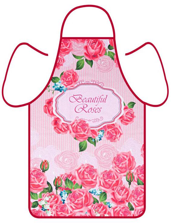 Фартук Soavita Роза, цвет: красный, 50 х 73 см. 806052044Перед использованием постирать при температуре не выше 40 градусов
