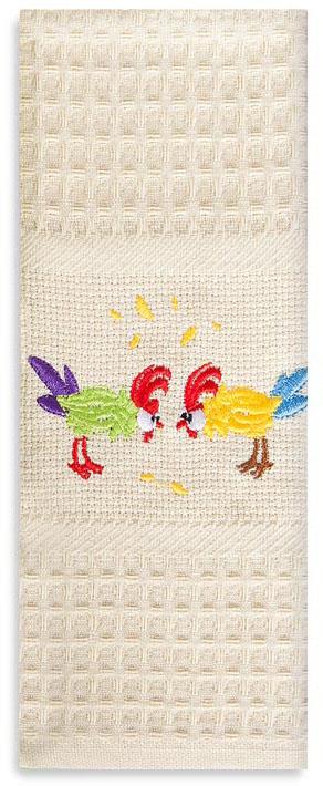 Полотенце кухонное Soavita Ку-ка-ре-ку, цвет: кремовый, 40 х 60 см. 895083152217630Перед использованием постирать при температуре не выше 40 градусов