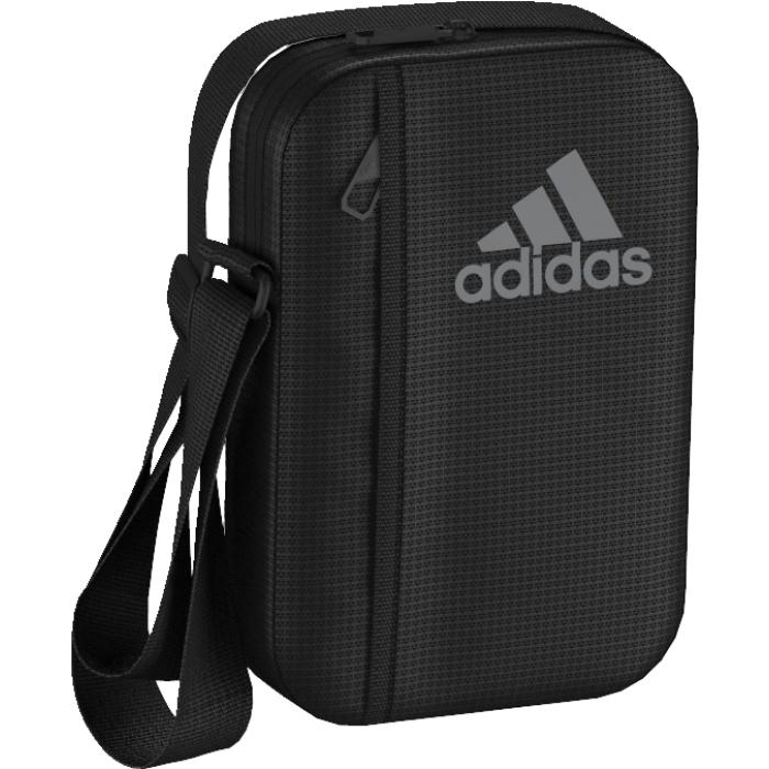 Сумка на плечо Adidas 3S PER ORG M, цвет: черный. AJ998823008Компактная сумка-органайзер Adidas 3S PER ORG M, изготовленная из качественного полиэстера, подойдет для спортивной экипировки. Основное отделение на молнии с внутренним разделителем дополнено наружным карманом на молнии. Оформлена модель логотипом adidas и тремя полосками.Основное отделение на молнии с внутренним разделителем; наружный карман на молнииСумка оснащена широким плечевым ремнем, который регулируется по длине.
