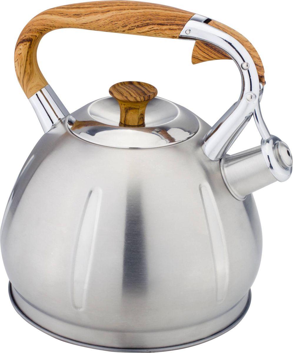Чайник Hoffmann, со свистком, 3,3 л. НМ 5531391602Чайник Hoffmann выполнен из высококачественной нержавеющей стали, что делает его весьма гигиеничным и устойчивым к износу при длительном использовании. Носик чайника оснащен насадкой-свистком, что позволит вам контролировать процесс подогрева или кипячения воды. Фиксированная ручка, изготовленная из пластика, оснащена механизмом открывания носика. Эстетичный и функциональный чайник будет оригинально смотреться в любом интерьере.