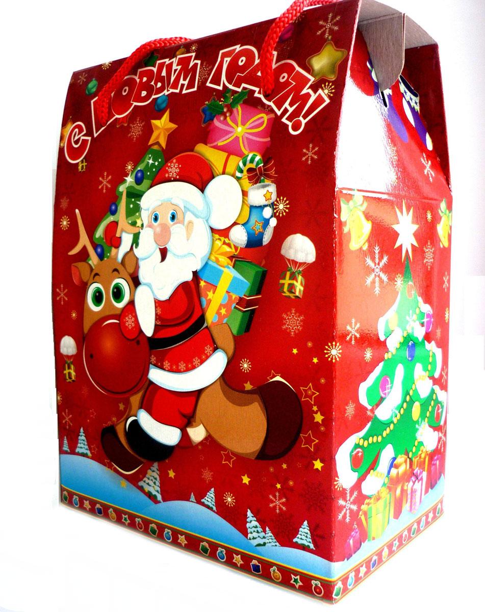 Новогодний сладкий подарок Веселье, 700 г74716Приятный и запоминающийся новогодний подарок, который наверняка порадует любого, напоминая нам о детстве.