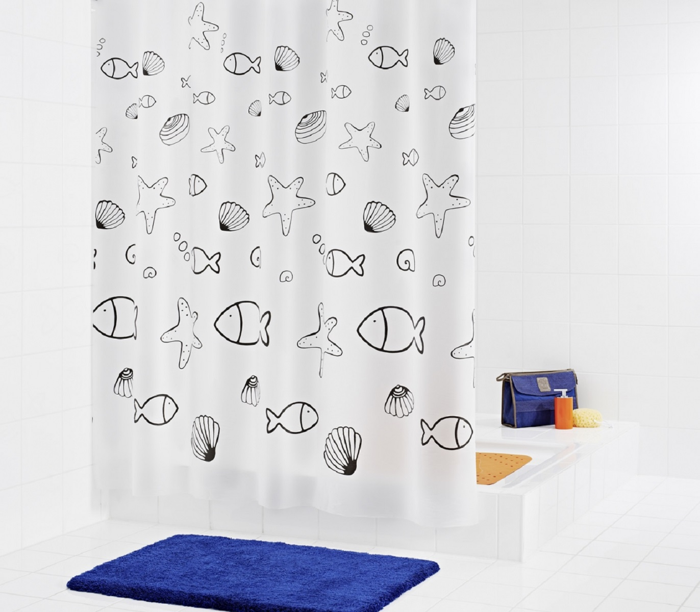Штора для ванной комнаты Ridder Seashell, 180 х 200 см620-18Высококачественная немецкая штора для душа создает прекрасное настроение.Продукты из эколена не имеют запаха и считаются экологически чистыми.Ручная стирка. Не гладить.