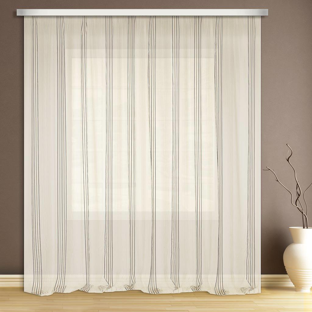 Тюль ТД Текстиль, на шторной ленте, рисунок полосы, высота 280 см59340/60Прекрасно подойдет для кухни в современном дизайне