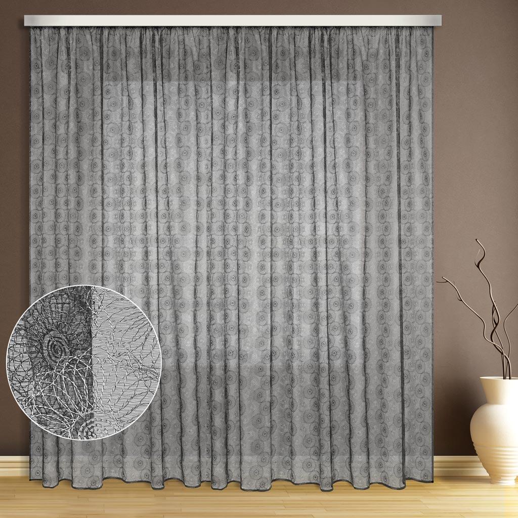 Тюль ТД Текстиль Цветок, цвет: серый, высота 270 см1110020Эта тюль выполнена на сетке с полным заполнением вышивкой, может использоваться в интерьере без дополнительных штор