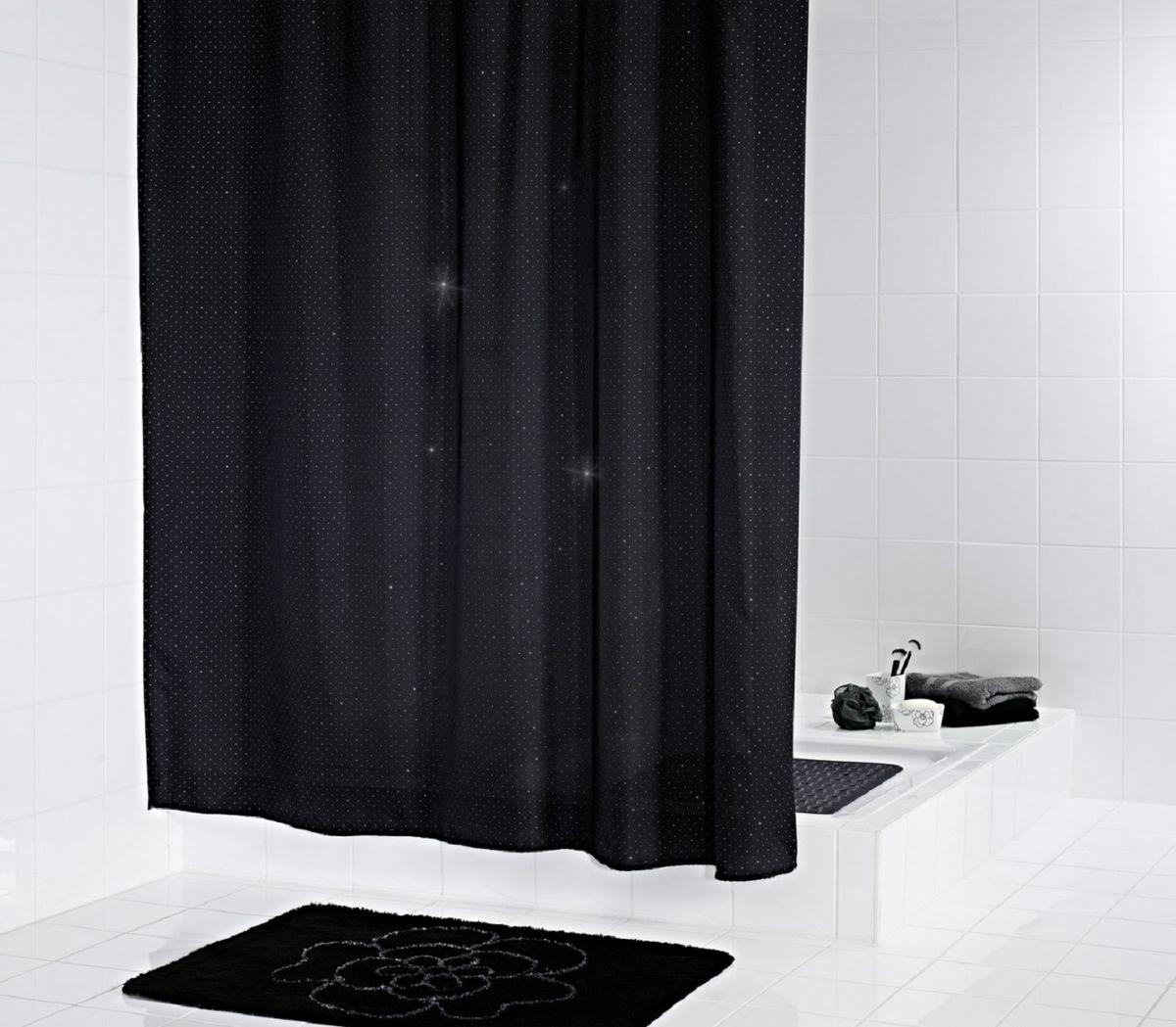 Штора для ванной комнаты Ridder Diamond, 180 х 200 см391602Высококачественная немецкая шторка Ridder Diamond создаст прекрасное настроение в ванной комнате. Данное изделие имеет антигрибковое, водоотталкивающее и антистатическое покрытие и утяжеленный нижний кант. Машинная стирка. Глажка при низкой температуре.