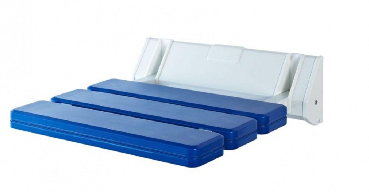 Сиденье в ванну Ridder, откидное, цвет: синийCLP446Высококачественное немецкое сиденье для ванны разработано и запатентовано компанией Ridder. Данное изделие имеет откидной механизм. Посадочная часть состоит из рифленых реек, не впитывающих влагу. Длина сидения - 310 мм. Глубина сидения - 230 мм. Максимальная нагрузка - 100 кг. Состав: каркас - алюминий, сиденье - пластик. В комплект входят саморезы+дюбели и инструкция.