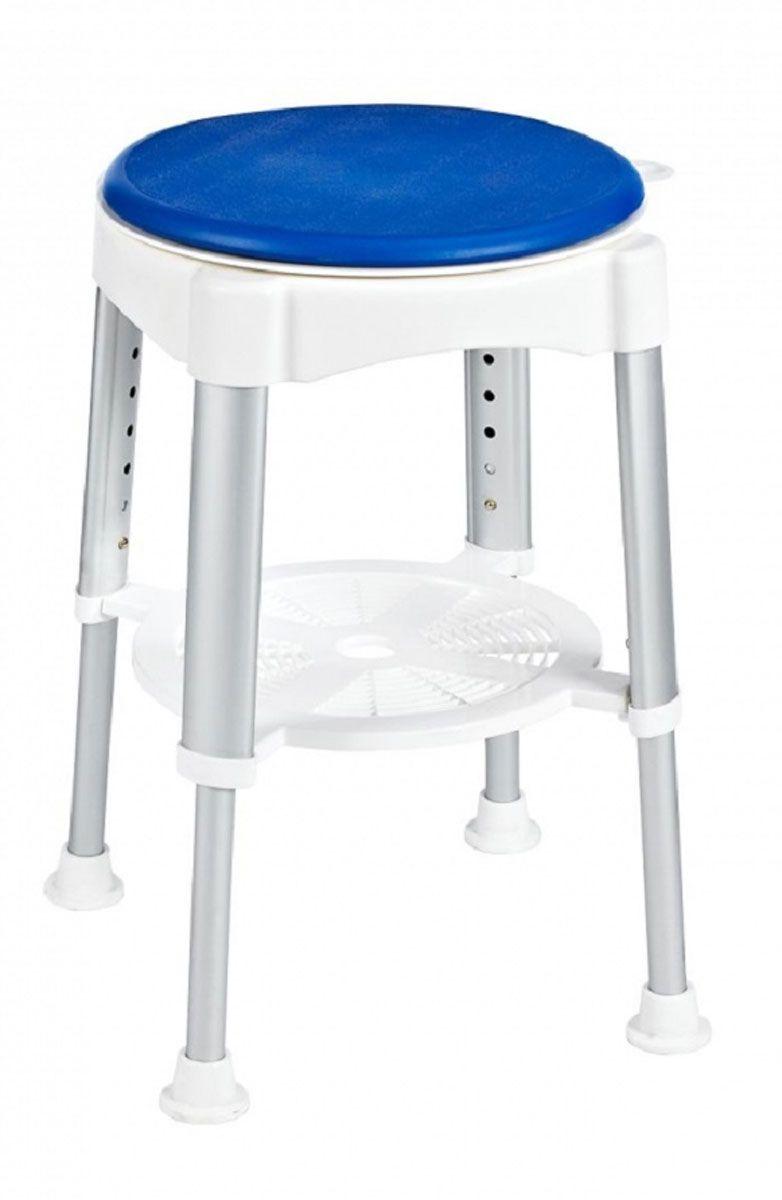 Табурет в ванную Ridder Assistent, поворотный, цвет: белый, матовый хром. А0050401NLED-441-7W-SВысококачественный немецкий табурет в ванную с регулируемой высотой разработан и запатентован компанией Ridder. В посадочной части расположен вращающийся элемент (360°), фиксация каждые четверть оборота. Конструкция снабжена резиновыми накладками для минимизации скольжения по полу.Серия Assistent создана для комфорта и безопасности, в том числе пожилых людей и лиц с ограниченными возможностями. Не содержит токсичных веществ. Безопасность изделия соответствует стандартам LGA (Германия). Компания Ridder предоставляет на свою продукцию гарантию качества 3-5 лет.Состав: анодированный алюминий, пластик, поворотная часть - пенополиуретан. Диаметр посадочной части: 35,5 см.Высота табурета: 41,5-58 см.Максимальная нагрузка: 150 кг.