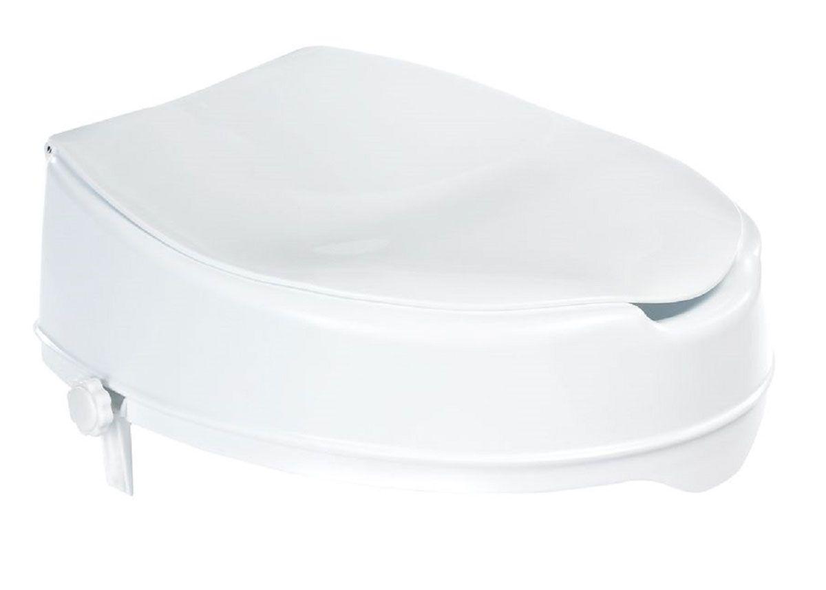 Сиденье для унитаза Ridder, с крышкой, цвет: белый. А007100168/5/1Высококачественное немецкое сиденье для унитаза с крышкой выполнено из пластика, минимизирует напряжение при посадке и подъеме. Конструкция не требует монтажа. Предусмотрена фиксация для внутренней и внешней сторон унитаза. Полезная высота сиденья - 100 мм. Максимальная нагрузка на опору - 100 кг.