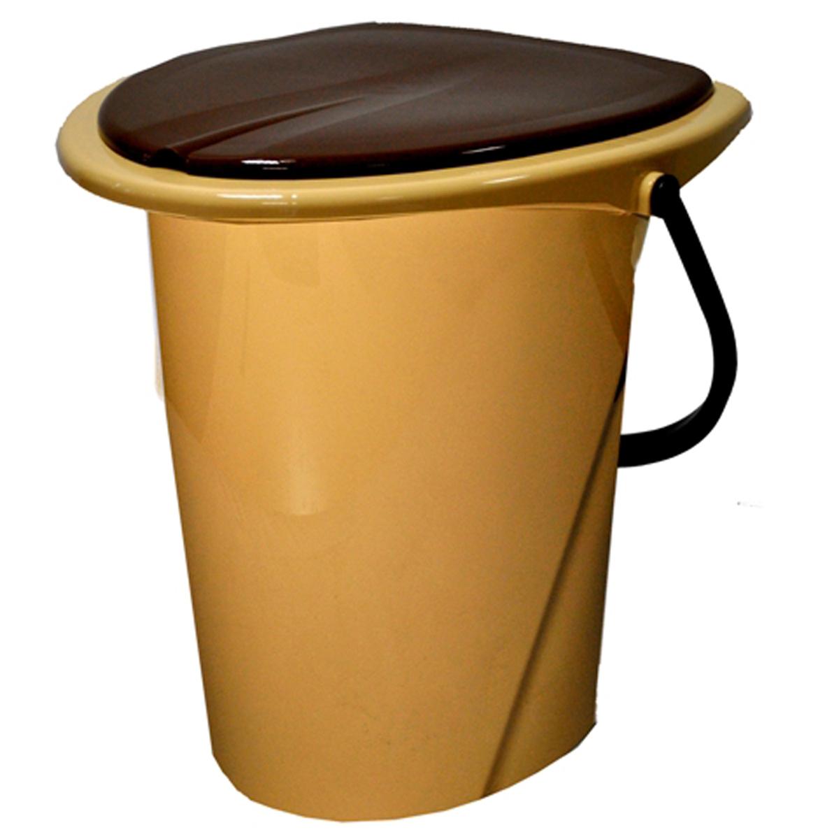 Ведро-туалет InGreen, цвет: бежевый, коричневый, 17 л1004900000360Ведро-туалет InGreen выполнено из пластика. Это незаменимая вещь на даче, а также для пожилых людей и людей с ограниченными возможностями. Устойчивое и высокое ведро удобно в использовании. Ведро-туалет имеет эргономичное съемное сиденье - это позволит легко его мыть и сушить отдельно. Ведро снабжено крышкой, что препятствует распространению неприятных запахов. Прочный пластик выдержит даже людей с большим весом.