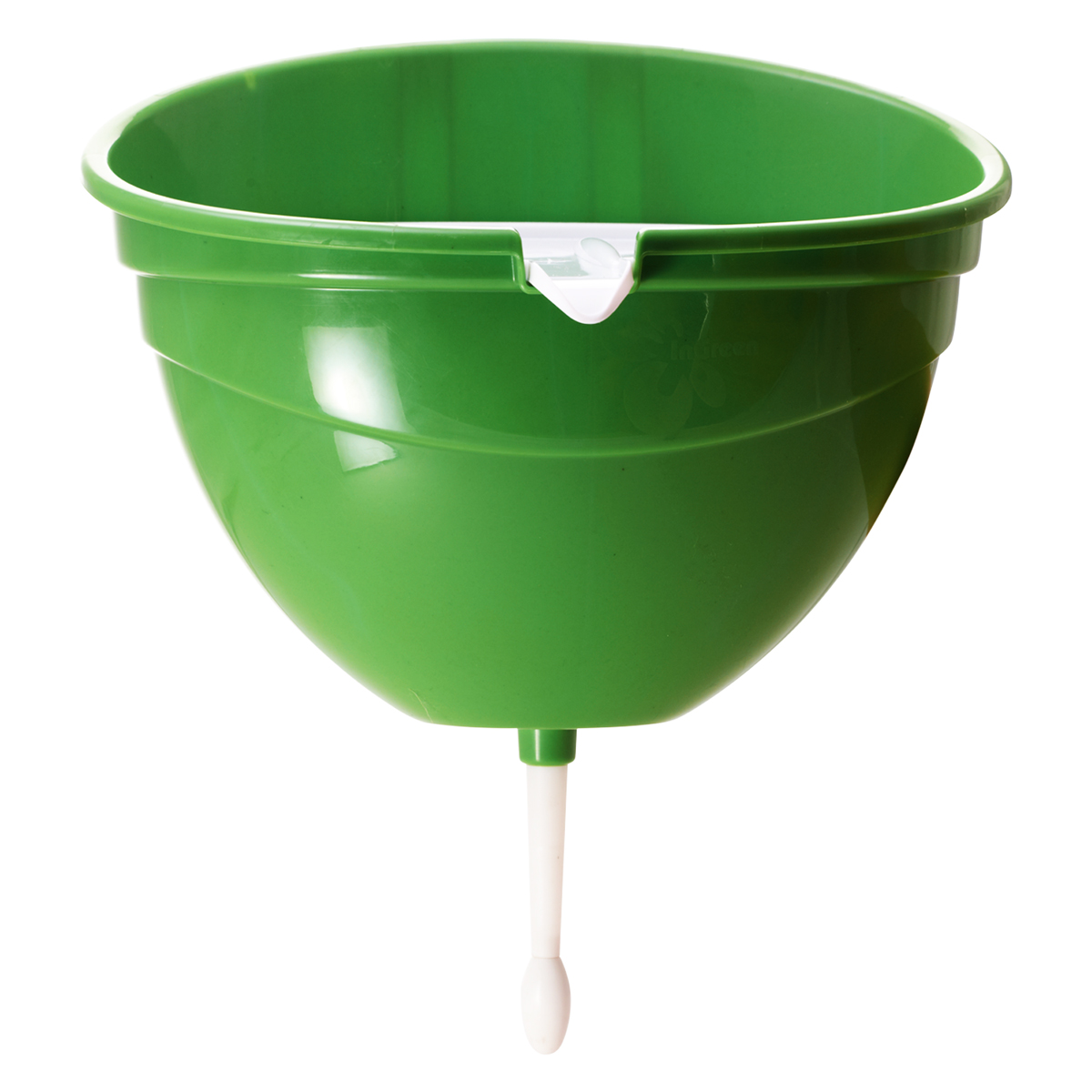 Рукомойник InGreen, цвет: салатовый, 4 л466188Современный и стильный рукомойник InGreen предназначен для дачи. Выполнен из высококачественного пластика и выдерживает отрицательные температуры (до -25 градусов), что позволяет ему спокойно пережидать зиму на улице. Крышка рукомойника расположена под небольшим углом и имеет специальный носик для слива дождевой воды, а также рифленую поверхность для удобного расположения мыла. Затвор плотно прилегает ко дну рукомойника, что предотвращает протекания воды.Размер рукомойника: 31,5 х 24,5 х 37 см.Объем рукомойника: 4 л.