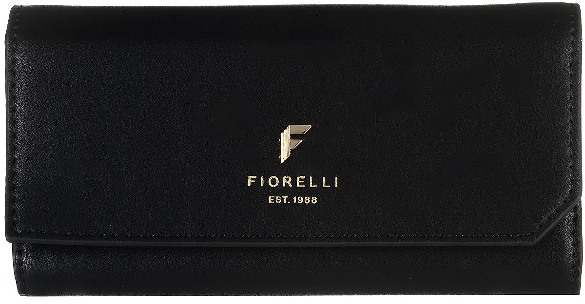 Кошелек женский Fiorelli, цвет: черный. 0831 FSERJAA03224-WBT0Современный кошелек оригинального дизайна Fiorelliизготовлен из эко-кожи и оформлен металлической пластиной с логотипом бренда. Внутри два отделения для купюр, одиннадцать карманов для карт и один большой карман для монет, который застегивается на молнию. Так же есть четыре скрытых кармана и один кармашек с прозрачным окошком. Снаружи назадней стенке прорезной карман на застежке-молнии. Закрывается кошелек на застежку-кнопку. Такой кошелек станет замечательным подарком человеку, ценящему качественные и практичные вещи.