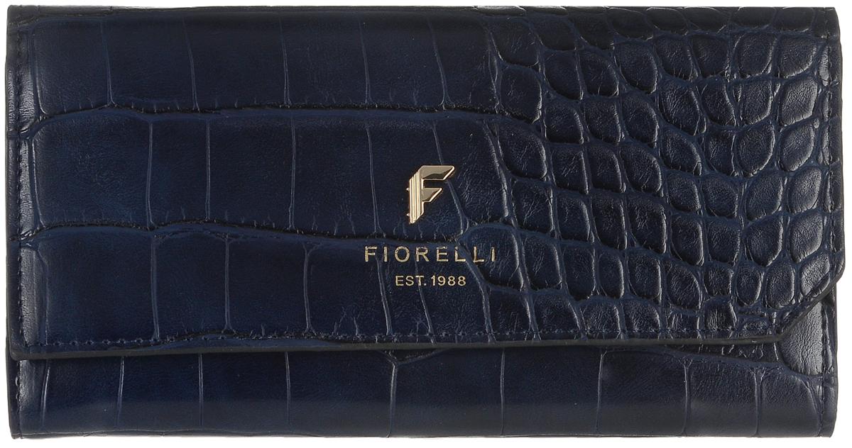 Кошелек женский Fiorelli, цвет: темно-синий. 0831 FS495350нСовременный кошелек оригинального дизайна Fiorelliизготовлен из эко-кожи и оформлен металлической пластиной с логотипом бренда. Внутри два отделения для купюр, одиннадцать карманов для карт и один большой карман для монет, который застегивается на молнию. Так же есть четыре скрытых кармана и один кармашек с прозрачным окошком. Снаружи назадней стенке прорезной карман на застежке-молнии. Закрывается кошелек на застежку-кнопку. Такой кошелек станет замечательным подарком человеку, ценящему качественные и практичные вещи.