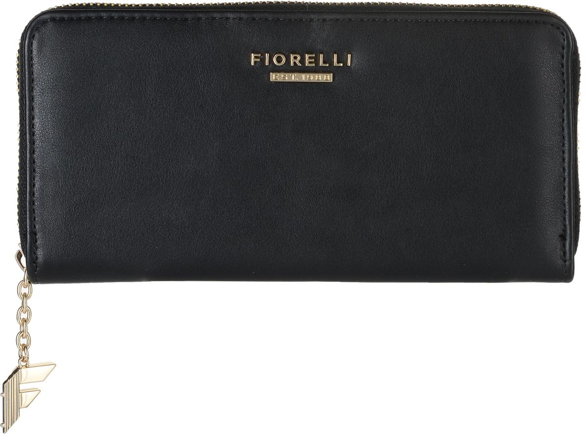 Кошелек женский Fiorelli, цвет: черный. 0830 FSBM8434-58AEСовременный кошелек оригинального дизайна Fiorelli изготовлен из эко-кожи с интересным дизайном и оформлен металлической пластиной с надписью в виде названия бренда. Внутри два отделения для купюр, двенадцать карманов для карт и один большой карман для монет, который застегивается на молнию. Так же имеется два скрытых кармана. Снаружи на задней стенке накладной открытый карман. Застегивается изделие на застежку-молнию.Такой кошелек станет замечательным подарком человеку, ценящему качественные и практичные вещи.