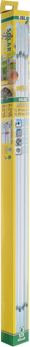 Отражатель JBL  Solar Reflect 85 , для люминесцентных ламп Т8 30 Вт/Т5 45 Вт, длина 85 cм - Аксессуары для аквариумов