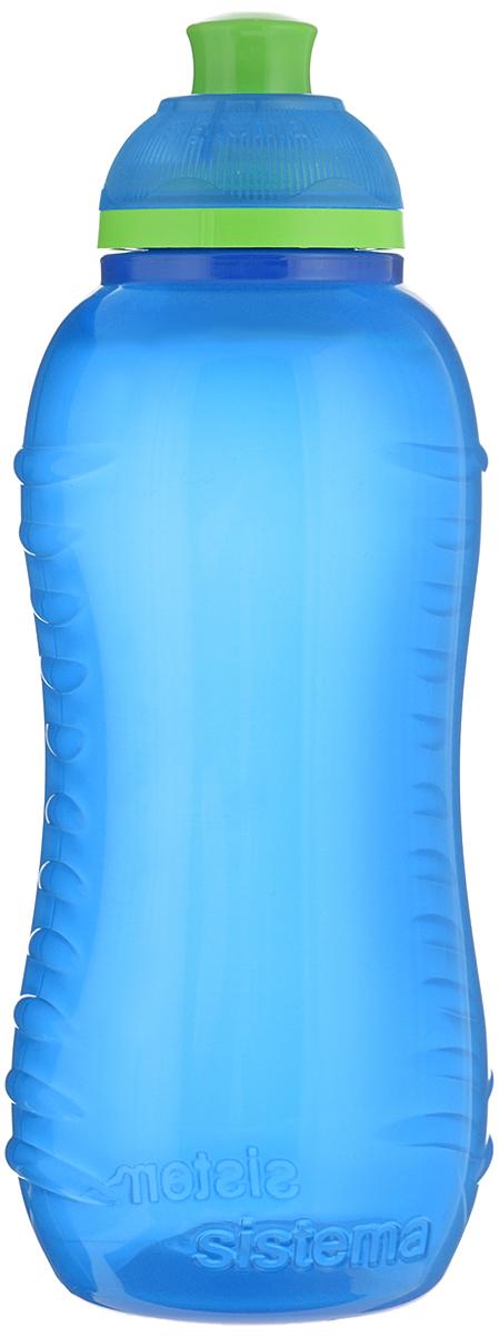 Бутылка для воды Sistema Twist n Sip, цвет: голубой, 460 млVT-1520(SR)Бутылка для воды Sistema Twist n Sip изготовлена из прочного пищевого пластика без содержания фенола и других вредных примесей. Рельефная поверхность бутылки со специальными выемками для удобного хвата. Бутылка имеет удобную запатентованную систему крышки Twist n Sip, которая предотвращает выливание жидкости и в то же время позволяет удобно пить напитки. С такой бутылкой Вы сможете где угодно насладиться Вашими любимыми напитками. Высота бутылки: 16 см.