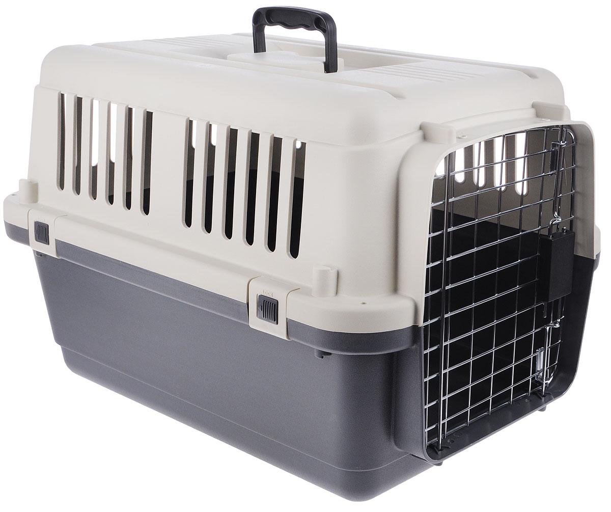 Переноска для животных Triol, 60,7 х 40 х 40,5 см14T800148Переноска Triol изготовлена из пластика и предназначена для перевозки животных на небольшие или дальние расстояния. Металлическая дверь оснащена специальным замком-защелкой, который препятствует случайному открытию двери в дороге. Переноска соответствует стандарту IATA - международной ассоциации авиа-перевозчиков и может использоваться для транспортировки животных в самолете.IATA - стандарт для международных перевозок животных в автомобиле, поезде, самолете, на корабле.Переноска снабжена надежными, скрепляющими корпус винтами и защелками, запираемой металлической дверцей, крепкой и прочной пластиковой ручкой, вентиляционными решетками и поилкой.Размер переноски: 60,7 х 40 х 40,5 см.Размер поилки: 11 х 9 х 4 см.