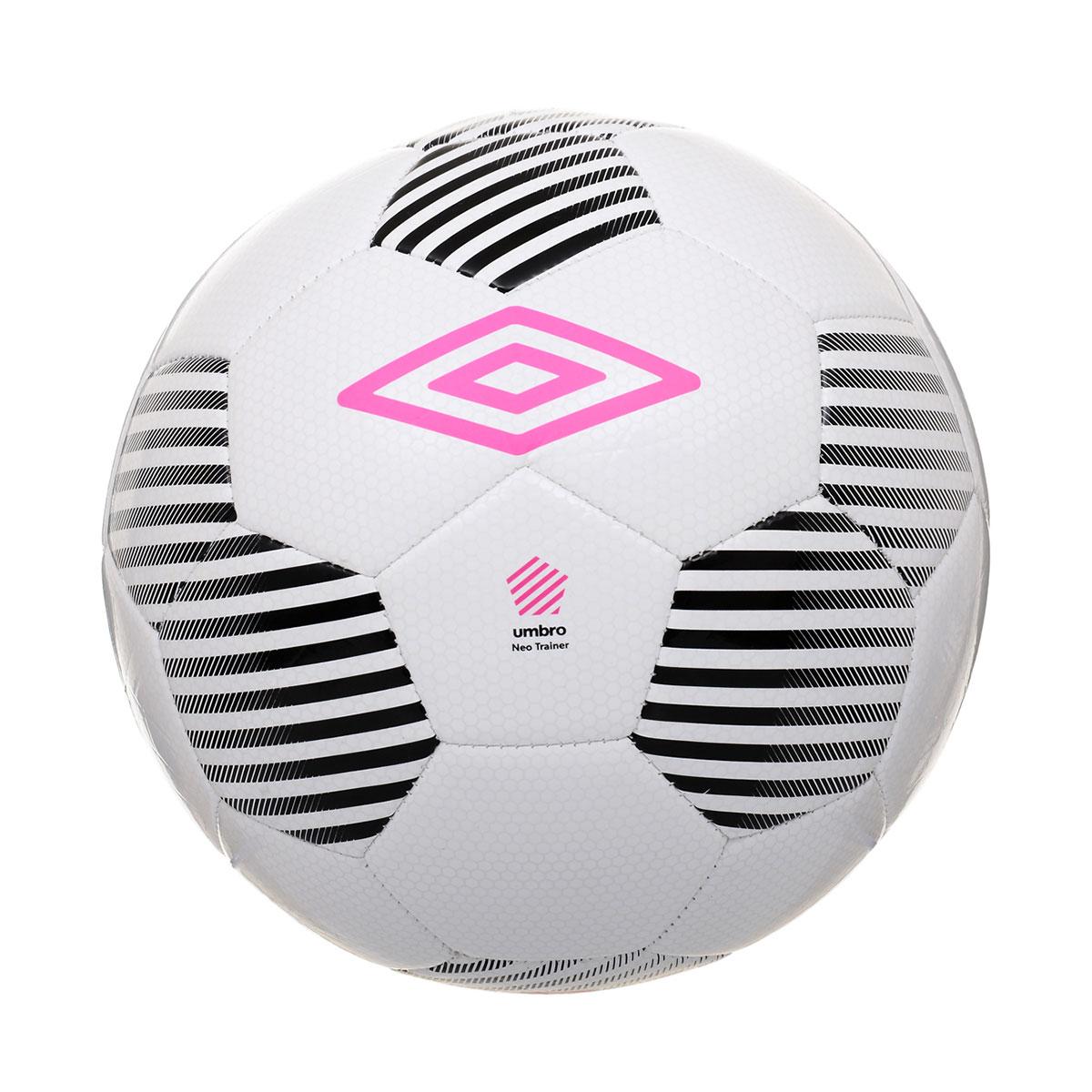 Мяч футбольный Umbro Neo Trainer, цвет: белый, черный, розовый. Размер 5. 20550U20550U