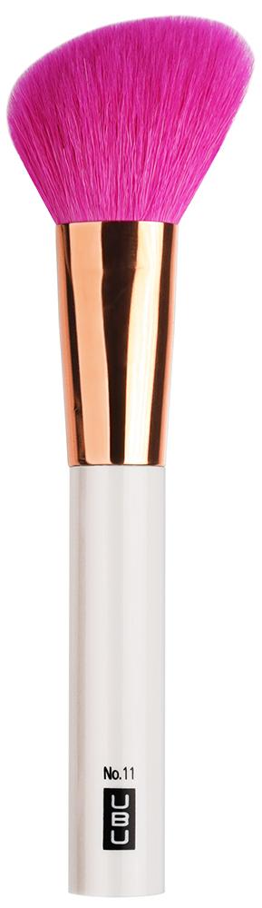 UBU Кисть для румян, скошенная, №11, цвет: розовый, золотой