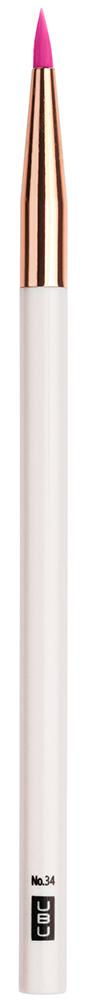 UBU Кисть для подводки, цвет: розовый, золотой1301210Кисть для подводки.Тончайший кончик роскошной кисти четко и аккуратно распределяет подводку по контуру глаз,помогая с легкостью создавать совершенный макияж.